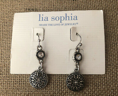 $ CDN11.35 • Buy Lia Sophia Scrapbook Earrings NEW NWT