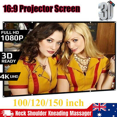 AU36.99 • Buy Foldable 100  120''150'' Projector Screen 16:9 Home Cinema Theater 3D Projection