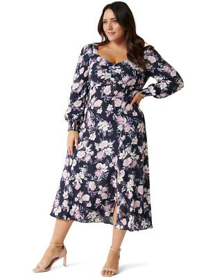 AU71.99 • Buy NWT FOREVER NEW Jillie Curve Printed Maxi Dress - Size 16  / 20 - RRP $149.99