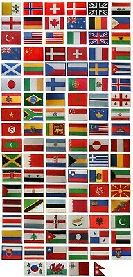National Country Flag Patch Iron On Patch Sew On Embroidered Patch Country Flag • 1.99£