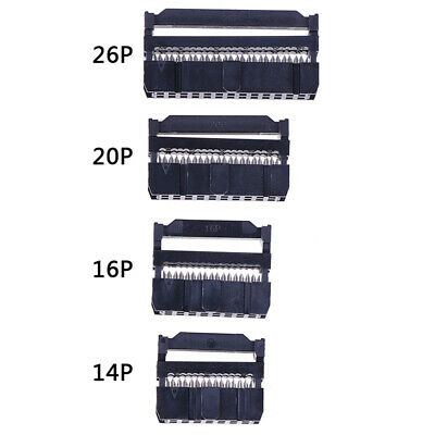 10x FC IDC Socket 10Pin Dual Row Pitch 2.54mm Connector Cable Socket JE • 4.48£