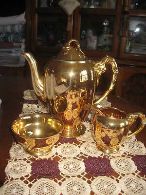 $ CDN363.93 • Buy  Royal Winton Chocolate Tea Set GRIMWADES MADE IN ENGLAND Gold
