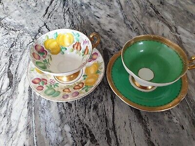 Old Royal Bone China Tea Cups And Saucers • 10.50£
