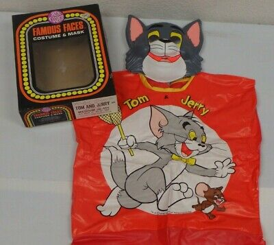 $ CDN33.88 • Buy 1982 TOM AND JERRY Vintage Halloween Mask & Costume RARE IN BOX - MGM Film Co