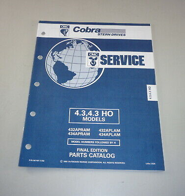 AU31.05 • Buy Parts Catalog Omc Cobra Outboard Motor Outboard 4.3/4.3 Ho Models Stand 05/1992