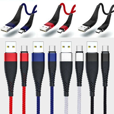 AU8.85 • Buy 2M 3M Type C Micro USB Charging Charger Data Sync Cable Cord For IPhone Samsung