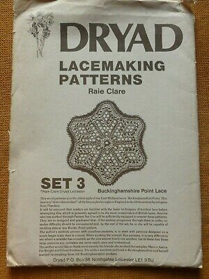 DRYAD LACEMAKING PATTERNS Set 3 – BUCKS POINT - Compiled By RAIE CLARE, 1980 • 7.99£