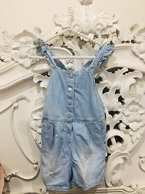 Cute Girls Denim Frill Playsuit Shorts Size 2-3 Years From Next  • 1.99£