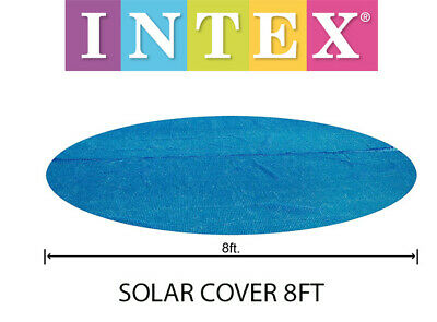 £14.49 • Buy Intex 8ft Solar Pool Cover Heats Clean Debris Paddling Swimming Inflateable New