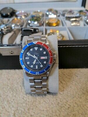 $ CDN81 • Buy Seiko Modded Pepsi Style Automatic Mens Watch. Glow In The Dark Dial