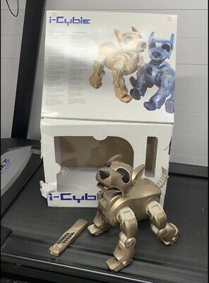 I-cybie Gold Dog Remote Control Robot Tiger Electronics - Boxed  1 Batterie • 20£