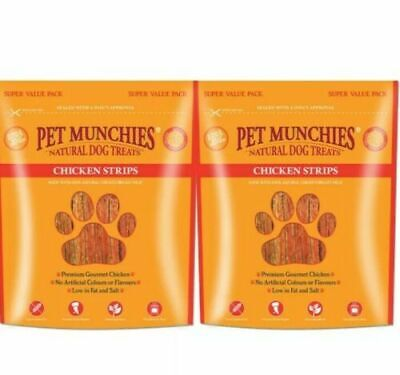 £15.39 • Buy  2 Packs Pet Munchies Chicken Strips 320g  Natural Dog Treat Value Pack