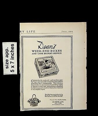 1925 Dean's Week-end Boxes Cake By Post Service Vintage Print Ad 015007 • 6.06£