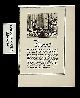 1925 Dean's Week-end Boxes Cake By Post Service Vintage Print Ad 015140 • 6.06£