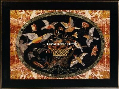 AU1346.79 • Buy Black Marble Furniture Custom Table Top Pietradura Design Birds Inlay Arts H4706