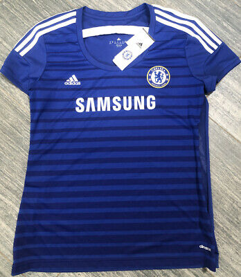 Women's Adidas Chelsea Athletic Jersey Blue Size XL Soccer Climacool _20 • 9.29£