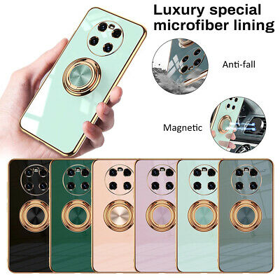 Shockproof Plating Silicone Ring Holder Case Cover For Huawei P30 P40 Pro Plus • 5.62£