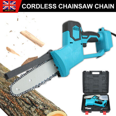 Electric Cordless Chainsaw Chain Saw Garden Cutting Tool For Makita Battery Blue • 49.99£
