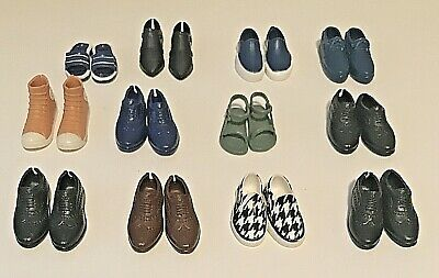 $ CDN12.64 • Buy Lot Of 12 Ken Doll Fashionistas Shoes Sandals Sneakers Dress Shoes