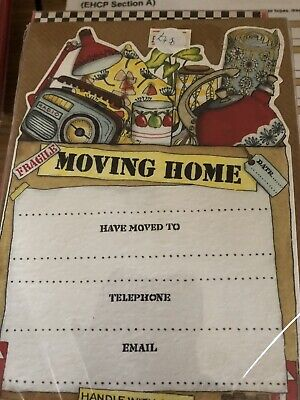 Moving Home Cards Pack 10 And Envelopes • 1.50£