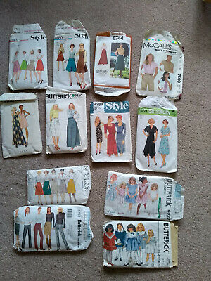 Retro Vintage Dressmaking Patterns Ladies Girl Dress Skirt Bundle 1980s 1990s • 7.75£