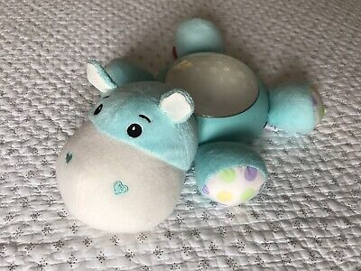 Fisher Price Hippo Night Light, Music Soother And Projector Soft Toy. • 12£