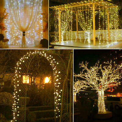 20M 200 LED Curtain Fairy String Lights Waterproof Garden Outddor Party Decor • 8.99£