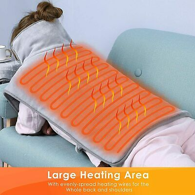 £19.99 • Buy Therapeutic Electric Heat Pad Soothing Muscle Tension Back Neck Pain Relief Grey