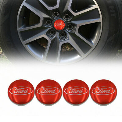 £8.97 • Buy 54mm Wheel Hub Centre Cap For Ford Fiesta Focus Alloy Badge Red Logo Cover 4pc