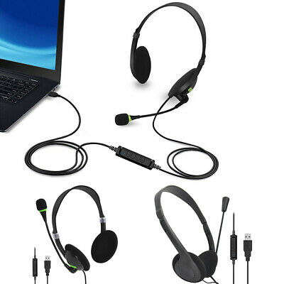 AU17.29 • Buy Gaming Music Headset USB Wired Over LED Headphones With Mic Stereo AU