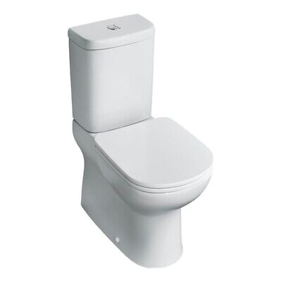 Ideal Standard Tempo Short Projection Close Coupled Toilet With Soft Close Seat • 150£