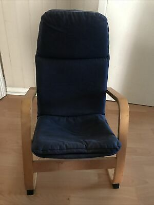 Small Blue Child's Ikea Chair • 5£