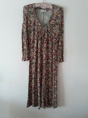 Brora Liberty Print Jersey Long Sleeved Dress Size 12 • 38£