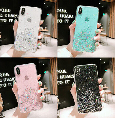 Bling Glitter Sparkly Cover Phone Case For IPhone 12 11 Pro Max 7 8 Plus XR Gel • 3.79£