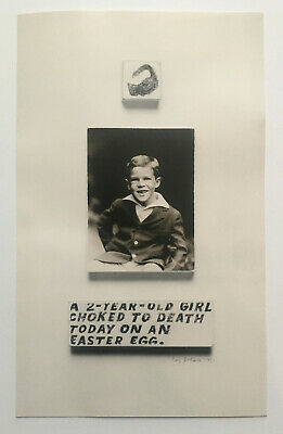 $225 • Buy RAY JOHNSON 1968 S.M.S. #2 - A TWO YEAR OLD GIRL CHOKED Sms Copley Lichtenstein