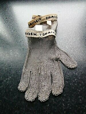 Chained Chainmail Stainless Steel Safety Left Hand Glove Made In France • 15£