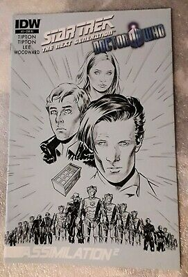 Star Trek The Next Generation Doctor Who Assimilation #3 July 2012 IDW 1st Print • 11.95£