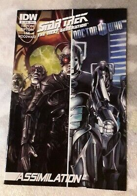 Star Trek The Next Generation Doctor Who Assimilation #2 June 2012 IDW 1st Print • 15£