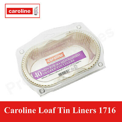 Pack Of 40 Non Stick Grease Proof Loaf Tin Liners Paper Cake Cases 1lb Size 1713 • 8.15£