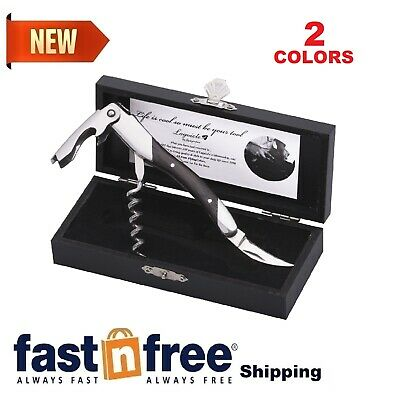 Laguiole Sommelier Professional Waiter's Corkscrew. Wood Handle Wooden Gift Box • 11.57£
