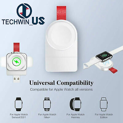 $ CDN2.21 • Buy For Apple Watch IWatch Series 1/2/3/4 Dock Adapter Charging QI Wireless Charger