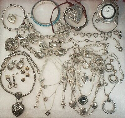 $ CDN12.93 • Buy Vintage Signed BRIGHTON Bracelets NECKLACES Earrings HEARTS Jewelry Lot