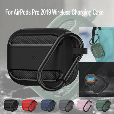 AU12.90 • Buy For AirPods Pro 2019 Wireless Charging Case Carbon Fibre Protective Skin Cover