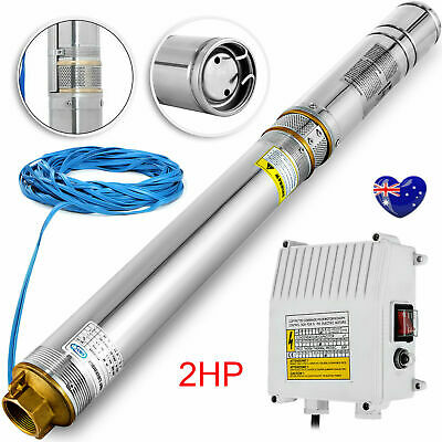 AU194.99 • Buy 4  Submersible Bore 1.5 HP Water Pump Deep Well 240V Stainless Steel + 40m Cable