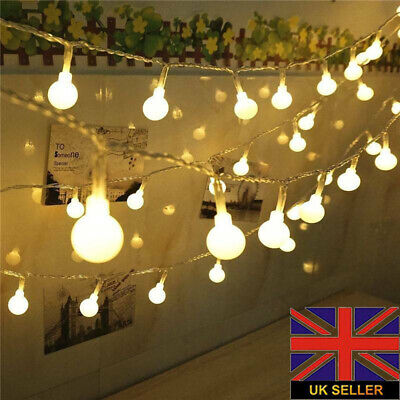 Mains Plug-in Fairy Globe Ball Lights 100/200 LED String Light Indoor & Outdoor • 11.98£