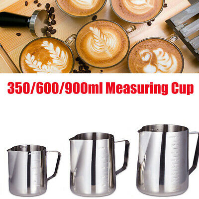 £6.95 • Buy Stainless Steel Milk Frothing Jug Pitcher Coffee Latte Frother Pour Mug Measure