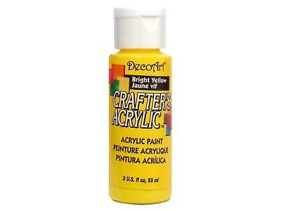 Dca 49 Decoart Crafter S Acrylic Paint 2oz Bright Yellow • 6.91£