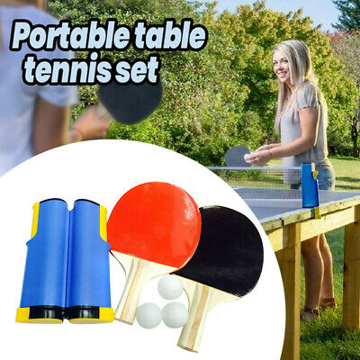 AU39.23 • Buy Indoor Games Retractable Portable Table Tennis Net Ping-Pong Paddles Kit Set