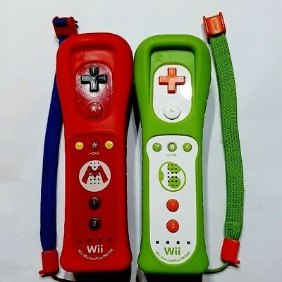 $ CDN107.62 • Buy NINTENDO Wii REMOTE MOTION PLUS 2 Set MARIO & Yoshi CONTROLLERS From Japan