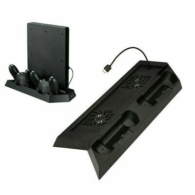 AU21.99 • Buy For Playstation PS4 & SlimDock Controller Cooling Charger 3in1 Vertical Stand